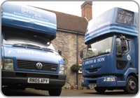 Removals vehicles outside house