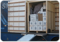 Unloading Furniture container